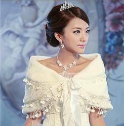 Свадебная меховая накидка Нежность