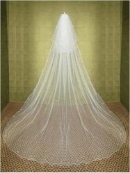 Свадебная фата длинная Водопад