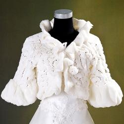 Изящное свадебное меховое болеро Зимняя сказка