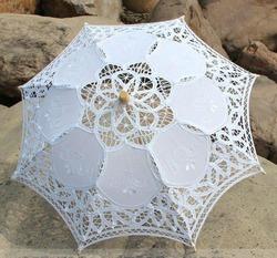Винтажный свадебный зонтик Античное кружево