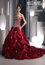 красное свадебное платье DV8220