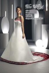 Бело красное свадебное платье DV8229