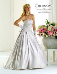 Свадебное платье с тонкой вышивкой  CW5385