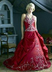 Красное свадебное платьеCW5501