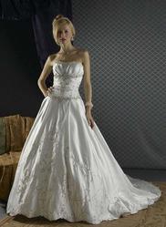 Свадебное платье с двойным шлейфом CW5496a