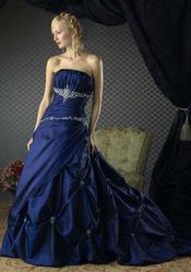 Синее свадебное платья CW5489