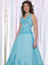 Голубое свадебное платье, модель N HK00203.