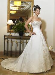 Золотое свадебное платье, модель N HK0005.