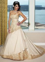 Золотое свадебное платье, модель N HK00411