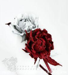 Ободок с розами Empireo amore. Кожа натуральная (авт.Н.Николенко)