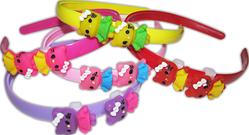 Ободок д/в пластик Baby 14 (kitty) 5цветов