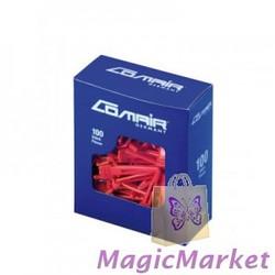 Зажим пластмассовый Comair острый, красный, 100шт (3150120)
