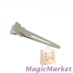 Зажим металлический Comair острый, короткий, 100шт (3150121)