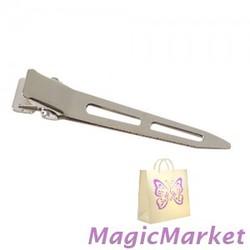 Зажим металлический Comair острый, длинный, 100шт (3150122)