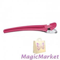 Зажим комбинированный розовый Comair 9,5 см, 10шт (3150050)