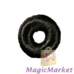Вкладка-бублик волосяной черный Comair, d 9 см (7000870)